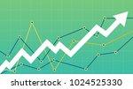 stock market diagram | Shutterstock .eps vector #1024525330