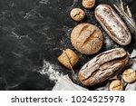 bakery   gold rustic crusty... | Shutterstock . vector #1024525978