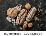 bakery   gold rustic crusty... | Shutterstock . vector #1024525984