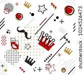 trendy seamless  memphis style... | Shutterstock .eps vector #1024526473
