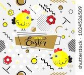 trendy seamless  memphis style... | Shutterstock .eps vector #1024526509