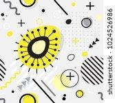 trendy seamless  memphis style... | Shutterstock .eps vector #1024526986