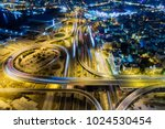 aerial view of high speed road... | Shutterstock . vector #1024530454