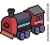 vector pixel art train isolated ... | Shutterstock .eps vector #1024531138
