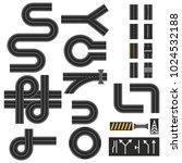 roads  streets  highways ... | Shutterstock .eps vector #1024532188
