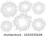 stylish retro star burst... | Shutterstock .eps vector #1024535638