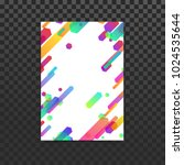 bright neon gradient lines... | Shutterstock .eps vector #1024535644