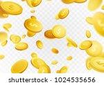 million dollar money rain cash... | Shutterstock .eps vector #1024535656
