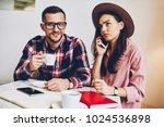 young woman in trendy hat... | Shutterstock . vector #1024536898