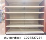 empty shelves at grocery store...   Shutterstock . vector #1024537294