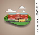 vector illustration of a school ...   Shutterstock .eps vector #1024538110