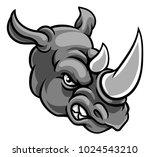 a rhino or rhinoceros mean... | Shutterstock .eps vector #1024543210