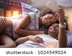 our photo. joyful positive... | Shutterstock . vector #1024549024