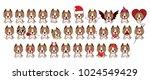 staffordshire terrier dog. big... | Shutterstock .eps vector #1024549429