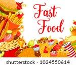 fast food restaurant poster... | Shutterstock .eps vector #1024550614