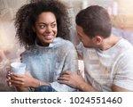 caring boyfriend. nice pleasant ... | Shutterstock . vector #1024551460