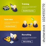training interview and... | Shutterstock .eps vector #1024553770