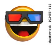 emoji with 3d cinema glasses  ... | Shutterstock . vector #1024554616