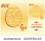 easter maze. help the little... | Shutterstock .eps vector #1024556110