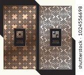 luxury cards. vector menu... | Shutterstock .eps vector #1024556698