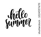 hello summer hand drawn... | Shutterstock .eps vector #1024557670