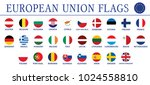 european union flags circle... | Shutterstock .eps vector #1024558810