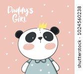 panda vector print. love panda | Shutterstock .eps vector #1024560238