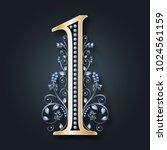 ornamental figure 1.... | Shutterstock .eps vector #1024561159
