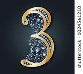 ornamental figure 3.... | Shutterstock .eps vector #1024561210