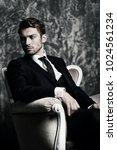 portrait of a handsome man in... | Shutterstock . vector #1024561234