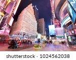 new york  usa   april 12  the...   Shutterstock . vector #1024562038