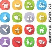 flat vector icon set   factory... | Shutterstock .eps vector #1024564108