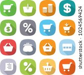 flat vector icon set   cart... | Shutterstock .eps vector #1024569424