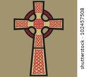 vector celtic cross design ... | Shutterstock .eps vector #102457508