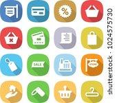 flat vector icon set   shop... | Shutterstock .eps vector #1024575730