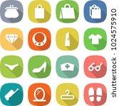 flat vector icon set   purse... | Shutterstock .eps vector #1024575910