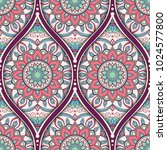 seamless pattern with ethnic... | Shutterstock . vector #1024577800