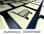 3d rendering of a computer... | Shutterstock . vector #1024579600