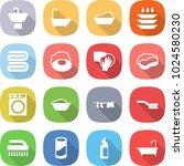 flat vector icon set   sink... | Shutterstock .eps vector #1024580230