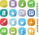 flat vector icon set   hanger... | Shutterstock .eps vector #1024581934