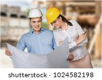 couple young architects | Shutterstock . vector #1024582198
