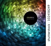 Colorful Mosaic Banner  Vector...