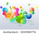 geometric vector colorful lines ... | Shutterstock .eps vector #1024583776