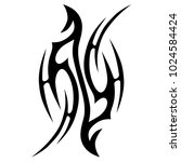 tattoo tribal vector design....   Shutterstock .eps vector #1024584424