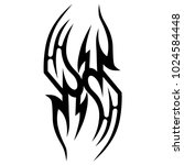 tattoo tribal vector design.... | Shutterstock .eps vector #1024584448