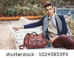 handsome indian man wearing... | Shutterstock . vector #1024585393