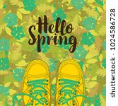 spring banner with the words... | Shutterstock .eps vector #1024586728
