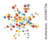 vector confetti background... | Shutterstock .eps vector #1024587736