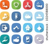 flat vector icon set  ... | Shutterstock .eps vector #1024588000