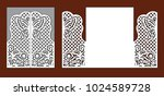 wedding invitation with lace... | Shutterstock .eps vector #1024589728